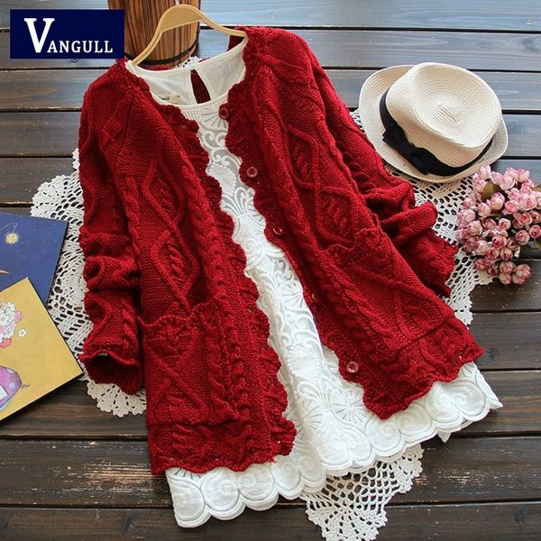 Photo of VANGULL Brand Autumn Winter Mori Girl Style Women Cardigan S…
