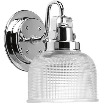 progress lighting archie collection 1 light chrome bath light