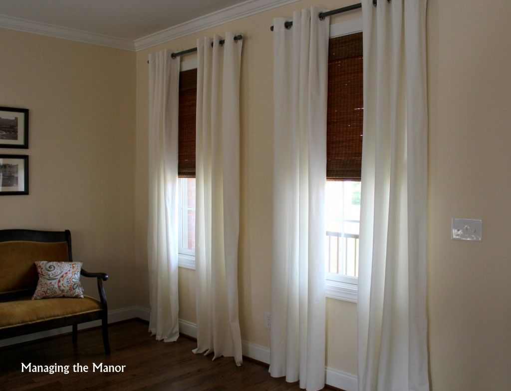 White Ikea Merete Curtains And Bamboo Shades Add A Light