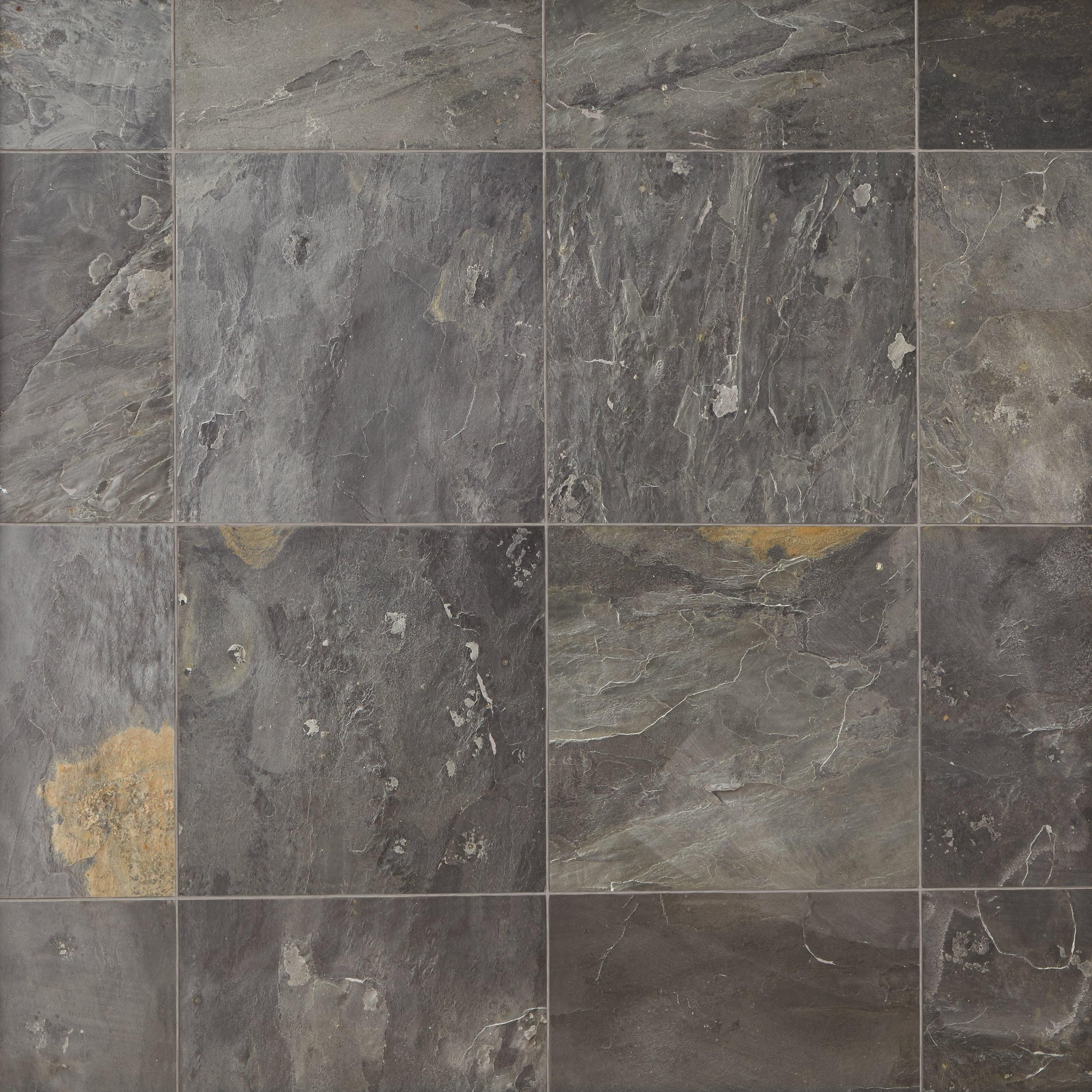 Black Slate Tile Floor Decor In 2020 Black Slate Tiles Slate Tile Slate Bathroom Tile