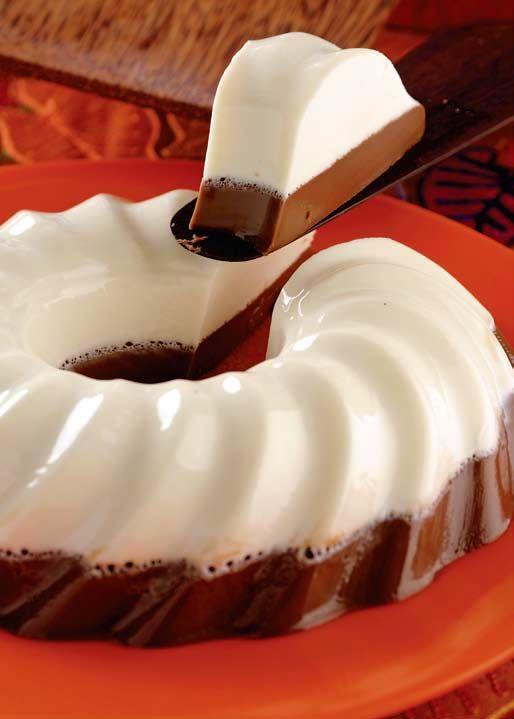 Gelatina de nutella y queso crema receta taza de leche - Gelatina leche condensada ...