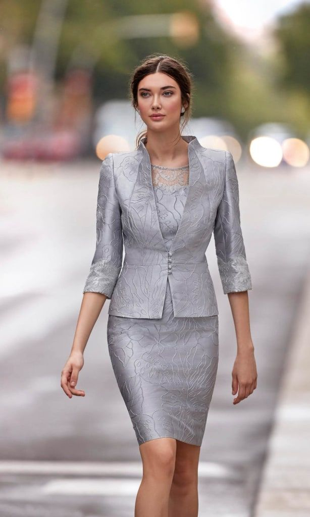 bbbb7f1e69c Carla Ruiz Special Occasion Dress   Jacket 94844 94845 Silver Grey Silver  is such a sophisticated