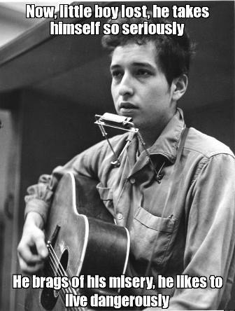 La literatura returns to the song: Bob Dylan, #NobelPrize. Asciende the #Minstrel y refulge el #Troubadour https://twitter.com/gonzalomorgadoj/status/786554275971280896 http://bobdylan.com/songs/visions-johanna/