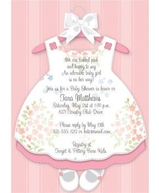 Baby Girl Dress Baby Shower Invitations Tarjetas De Baby Shower Invitaciones Para Baby Invitaciones Para Fiesta Shower