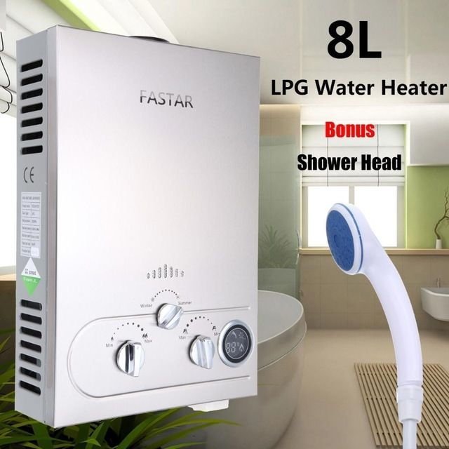 Ship from UK)2017 FAST Ce Flue Type 8l Lpg Gas Instant Hot Water ...