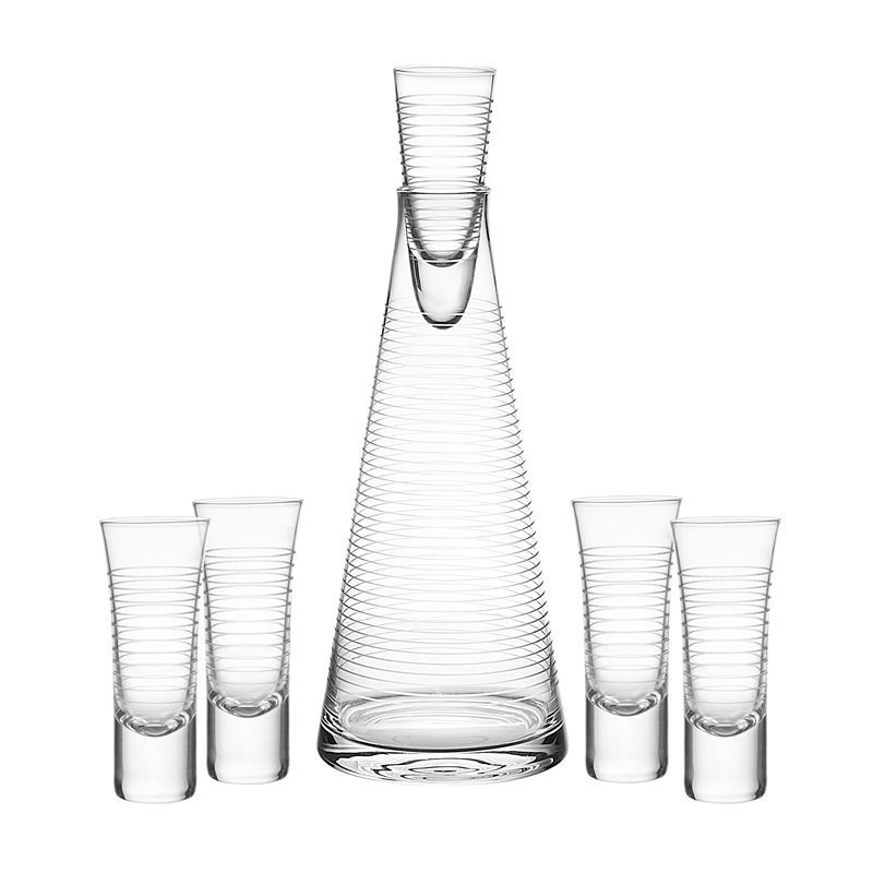 Qualia Glass Pacifica 6pc. Decanter Set Vodka, Glass