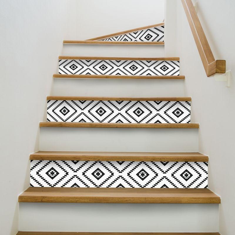 contremarche descalier dcorative et facile poser a coller sur votre escalier en - Peindre Les Contremarches D Un Escalier En Bois