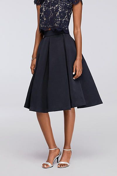Midi Full Faille Skirt With Box Pleats Ejdm9134 Shop Cocktail Dresses Cocktail Dress Cocktail Dress Party