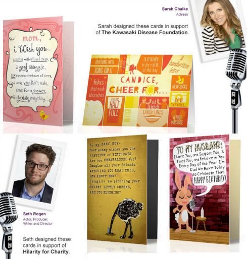 Seth Rogen And Sarah Chalke Create Birthday Cards For Treat