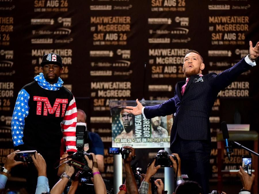 Floyd Mayweather vs. Conor McGregor fight: The 11 best most intense photos from their first press conference
