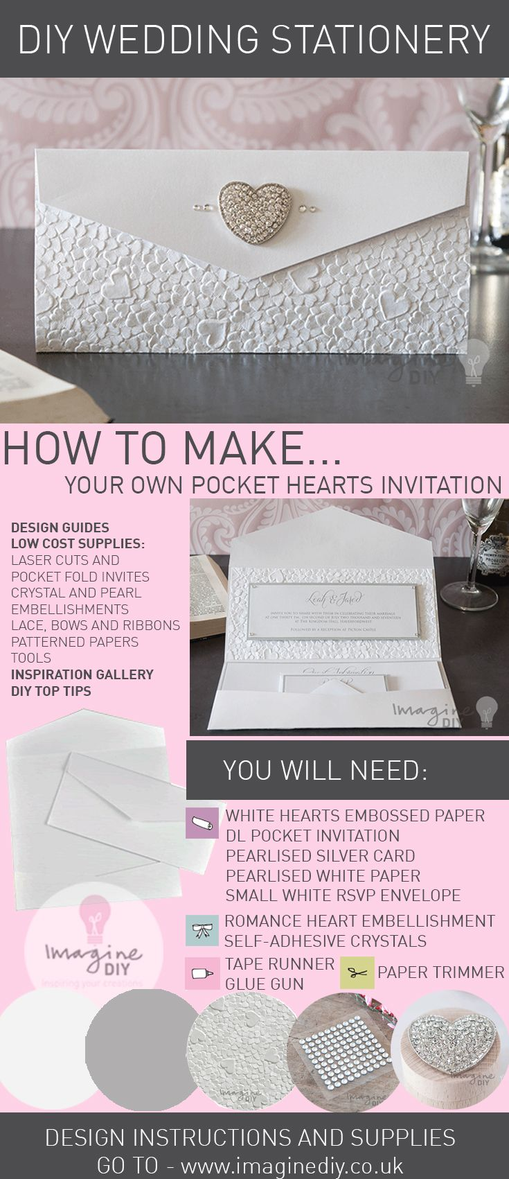 How to make heart embossed pocket invitation pocket invitation