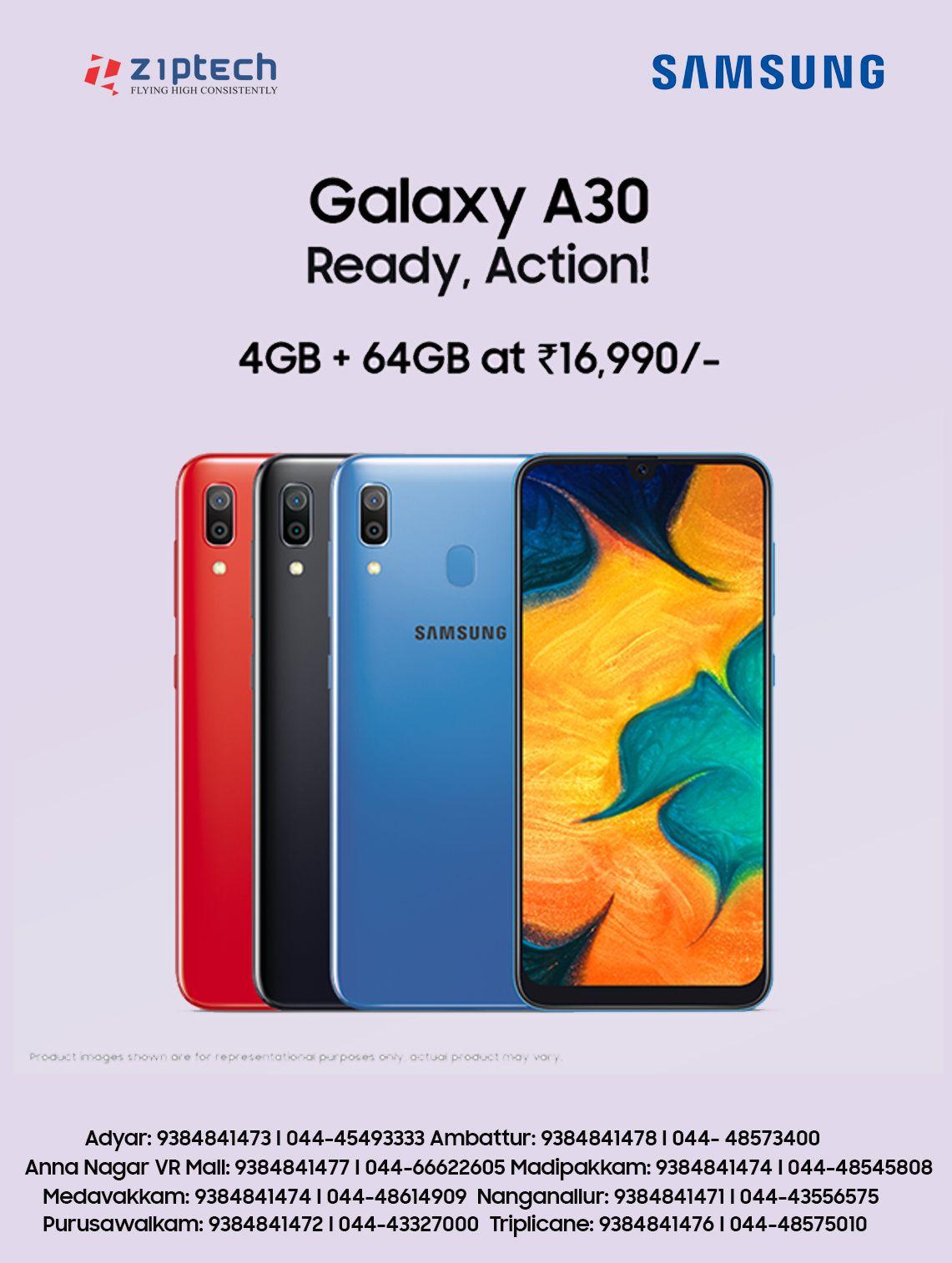 Buy Samsung Galaxy A30 (4GB + 64GB) with super AMOLED display