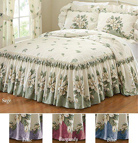 Floral Ruffle Magnolia Garden Bedspread Sage Queen Collections Etc http://www.amazon.com/dp/B00HZ8ZOWE/ref=cm_sw_r_pi_dp_PS28vb1YWPFSR