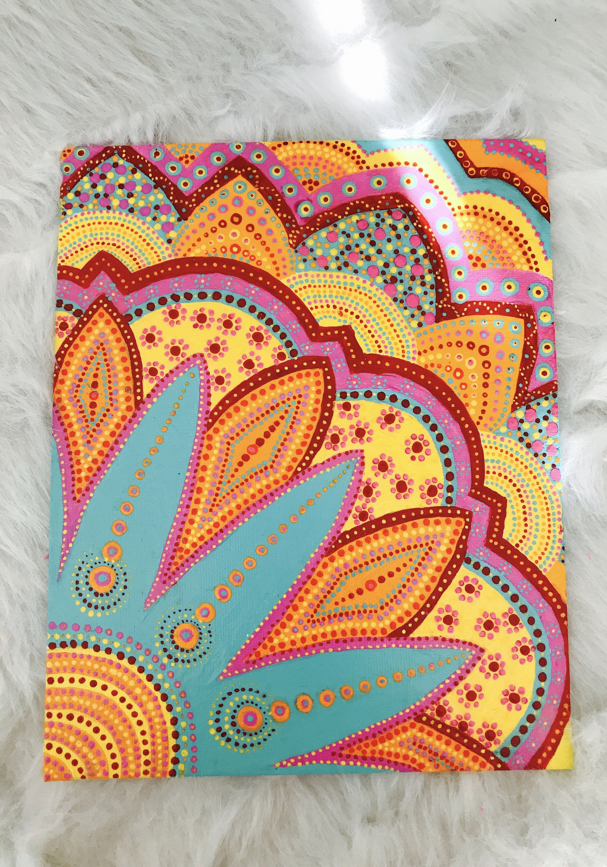 Mandala Design Painted Canvas