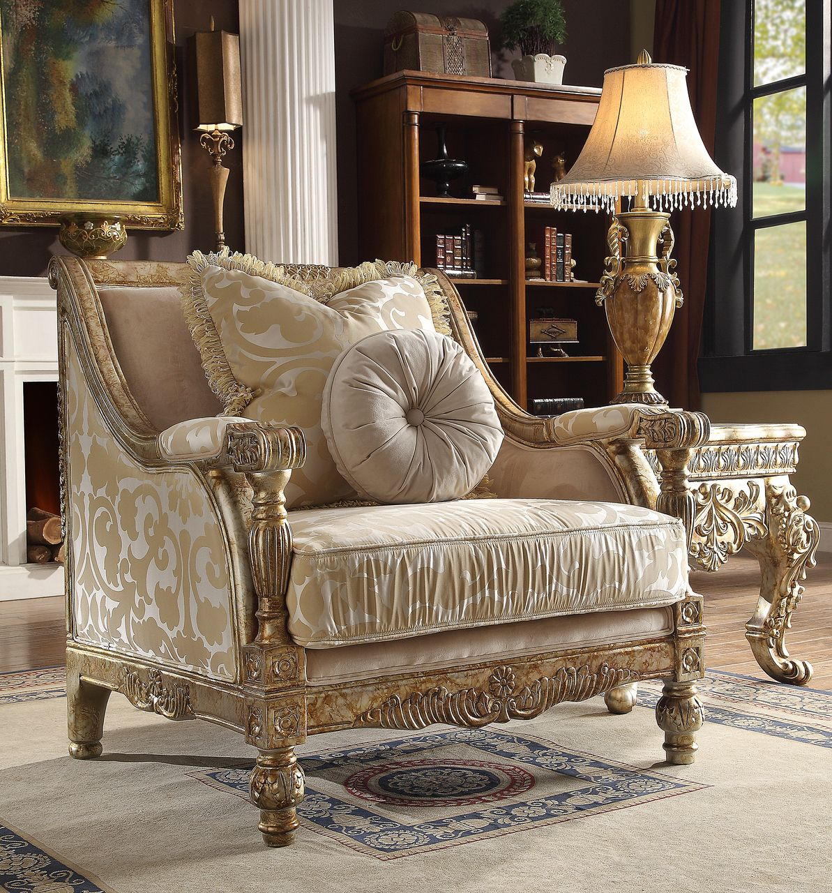 Homey Design Hd 205 Sofa Chair For 896 Classic Furniture Design Furniture Design Shabby Chic Decor Living Room