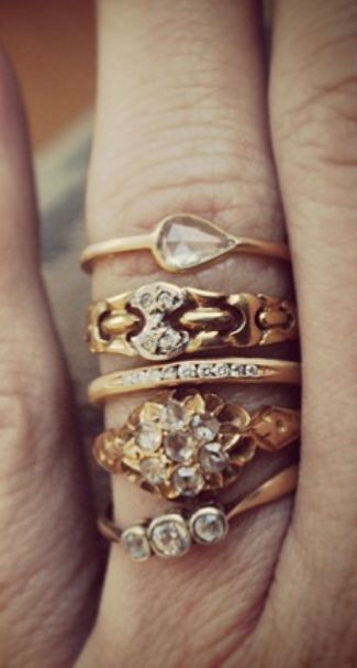 domestic sunday pretty stacked rings interesting to look at