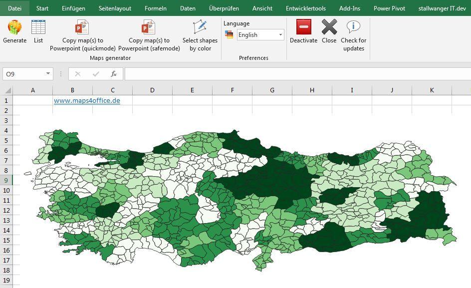 Turkey Map PowerPoint