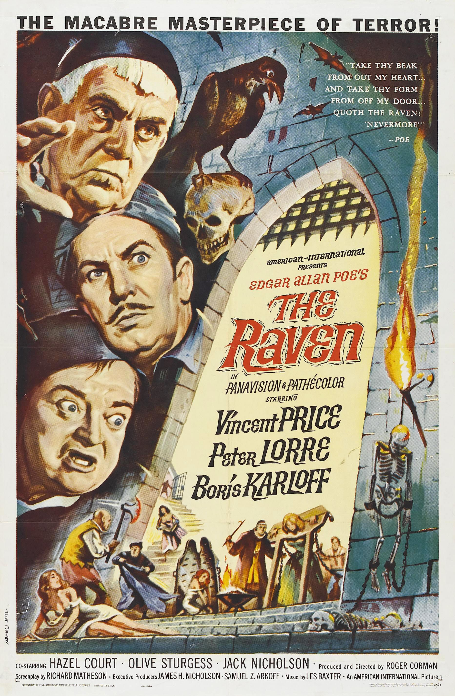 the raven imdb com title tt deranged the raven is a b movie horror comedy directed by roger corman the film stars vincent price peter lorre and boris karloff as a trio of rival sorcerers