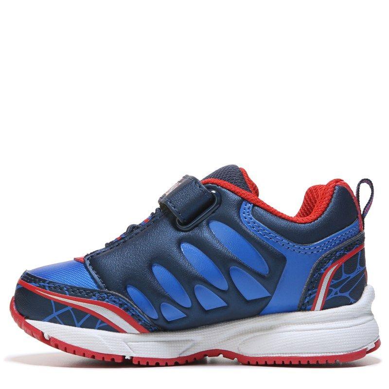 Spider-Man Kids' Spiderman Rush Sneaker Toddler/Preschool Shoes (Blue Red  White