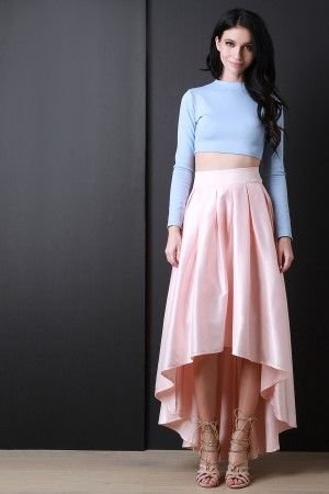 975473c78668 Satin Box Pleated Maxi Skirt More