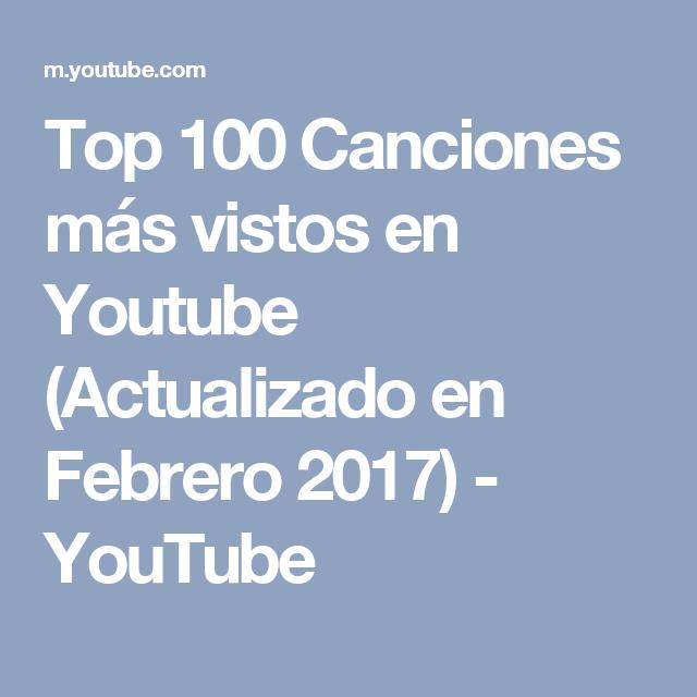 Top 100 Canciones más vistos en Youtube (Actualizado en Febrero 2017) - YouTube