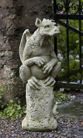 Superb Campania International Emrys The Gargoyle Cast Stone Garden Statue   Garden  Statues At Hayneedle