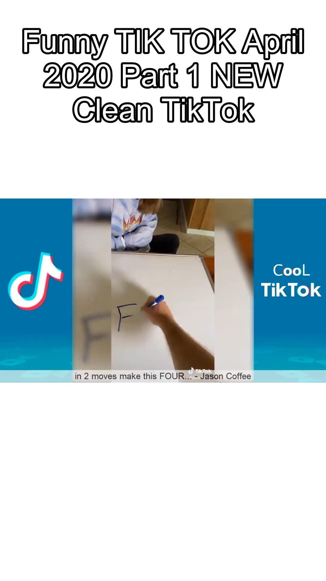 Funny Tik Tok April 2020 Part 1 New Clean Tiktok Video In 2020 Funny Videos Clean Really Funny Joke Really Funny Texts