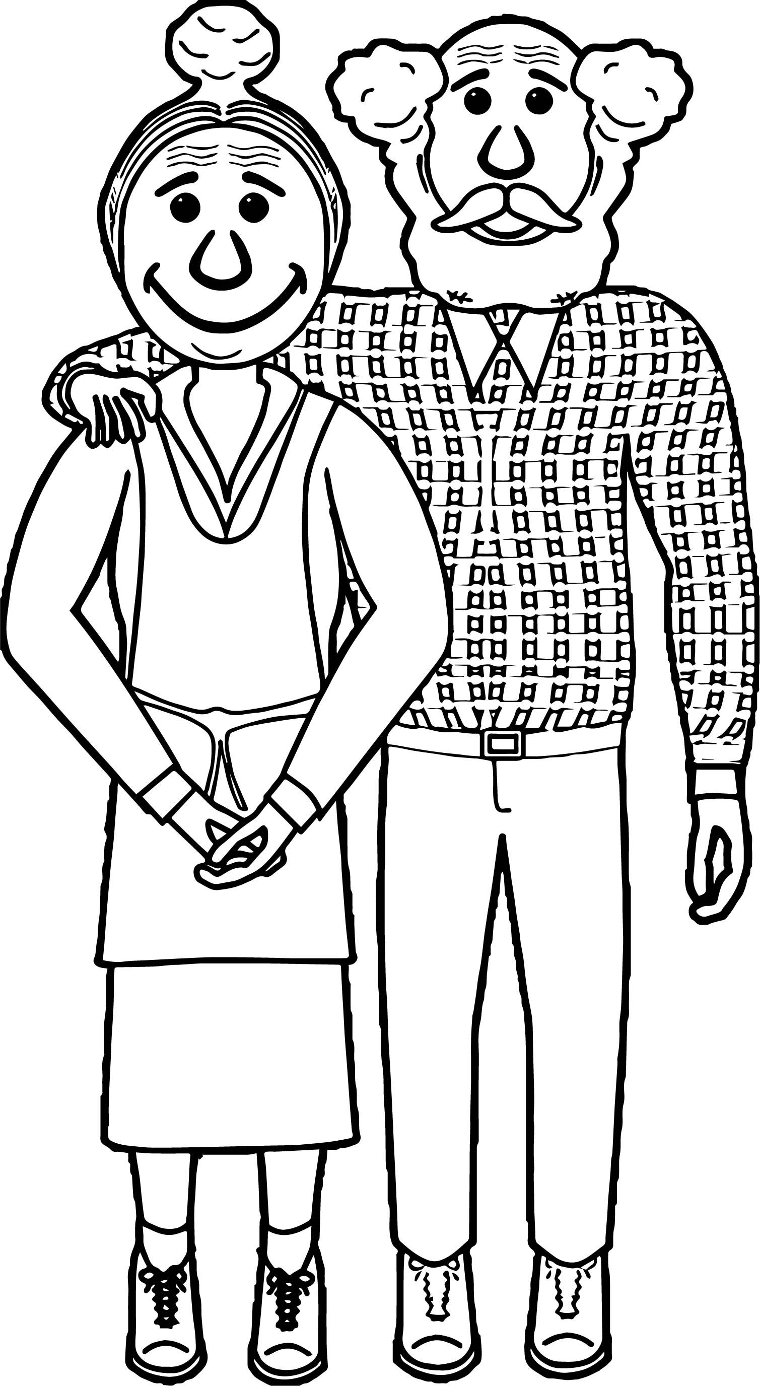 Nice Couple Old Coloring Page Scripture Coloring Coloring Pages