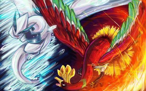 Lugia Vs Ho Oh Pokemon Anime Wallpaper Anime