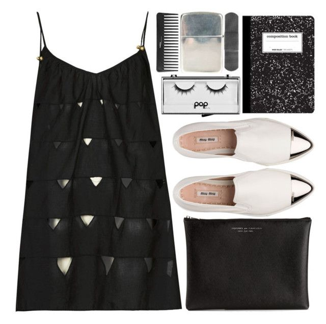 """""""Untitled #35"""" by klaudia-dcvi ❤ liked on Polyvore featuring Topshop, Miu Miu, Pop Beauty and Carven"""