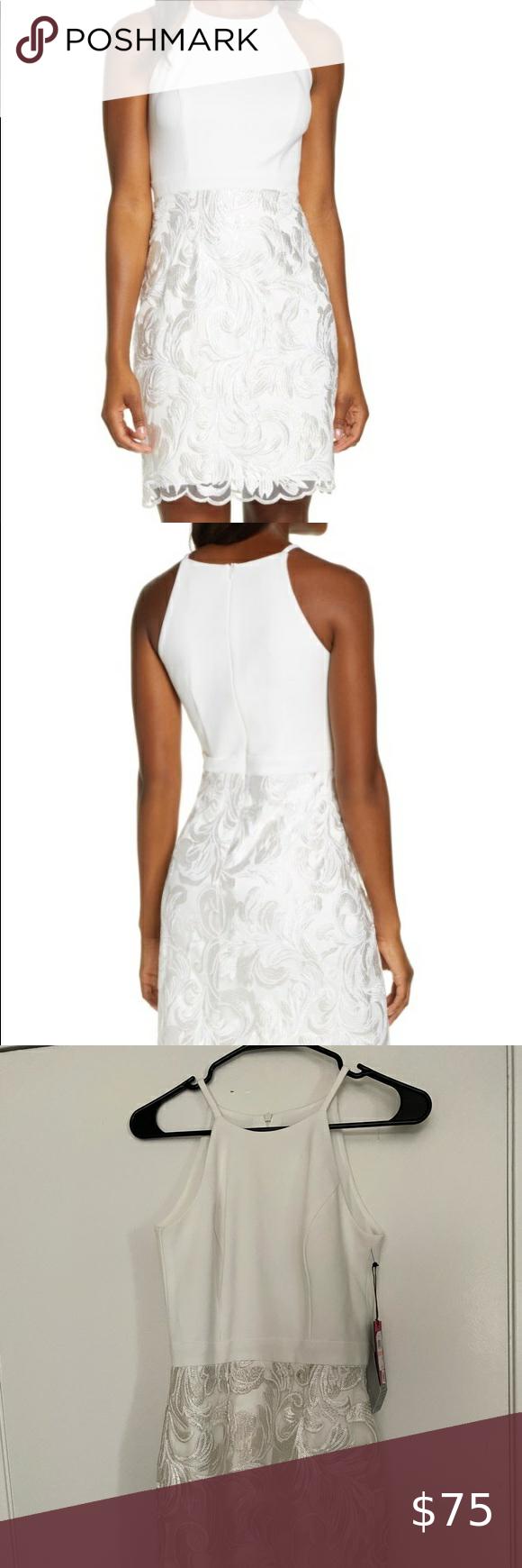 Vince Camuto White Dress White Dress Dresses Mini Dress [ 1740 x 580 Pixel ]