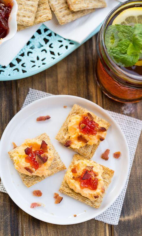pimento cheese strawberry jam and bacon triscuit crackers spicy southern kitchen - Spicy Southern Kitchen