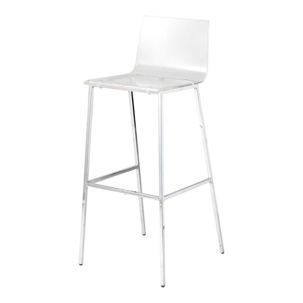 Sedie Da Bar In Plastica.Sedia Da Bar Trasparente E Acciaio Cromato Sgabelli Bar Chairs