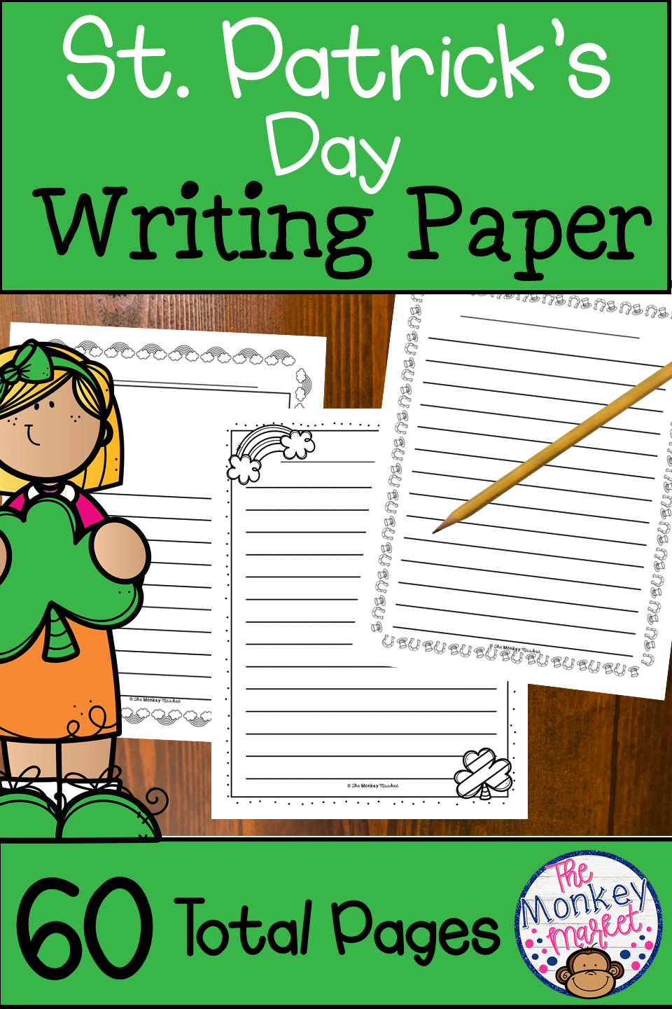 It Is Great For Writing Lessons And Stations During March St Patrick Sday Writingpaper