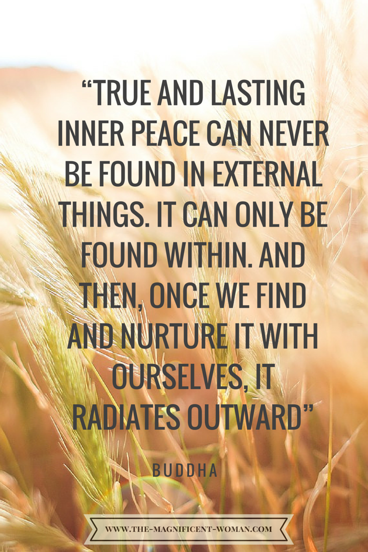 Quote About Peace And Love True & Lasting Inner Peace Can Never Be Found In External Things