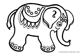 Resultado De Imagen De Elefante Para Colorear Elefantes Para Colorear Dibujos Macetas Pintadas