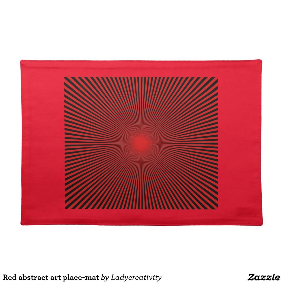 Red abstract art place-mat cloth placemat