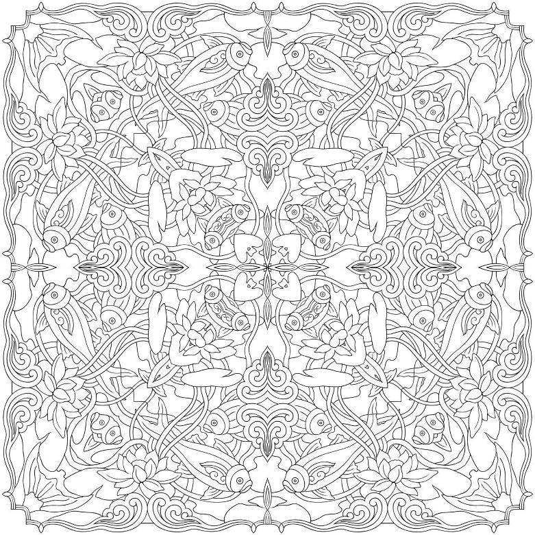 Mandalas à colorier-Manola