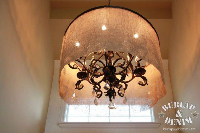 Diy barrel shade chandelier diy pinterest barrels chandeliers diy barrel shade chandelier aloadofball Gallery