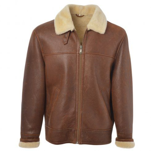 Mens Ashwood Hunter Tan- Sheepskin Flying Jacket | Mens Sheepskin ...
