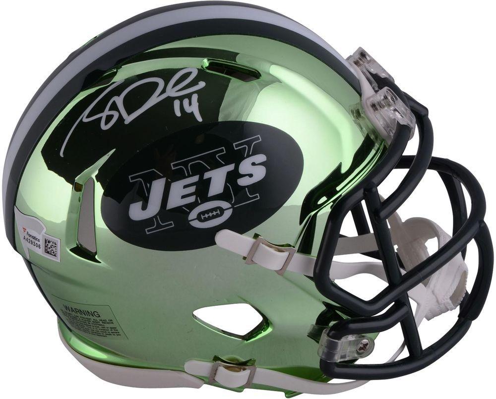 Sam Darnold New York Jets Autographed Riddell Chrome Alternate Speed Mini  Helmet f4adf3c34