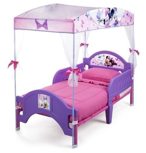 Minnie Mouse Disney Canopy Princess Toddler Bed Frame Pink Purple