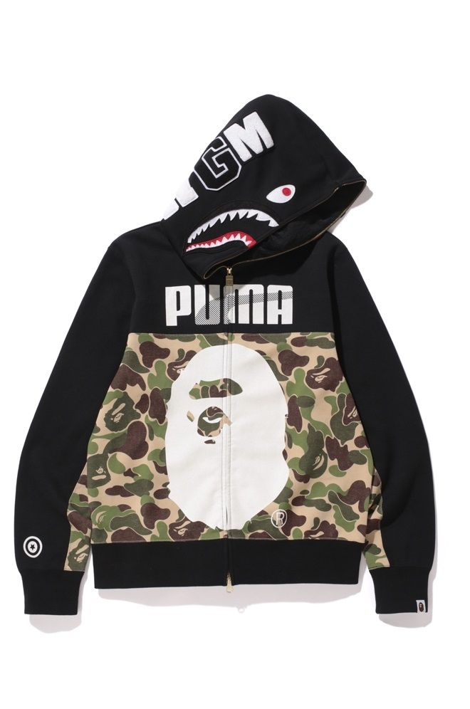 BAPE X Puma Shark Zip Hoody Camouflage Hooded Sweatshirt A Bathing Ape  Men s Camo Hoodie │ Represented by Young Thug and Fabolous 1f7f1c756