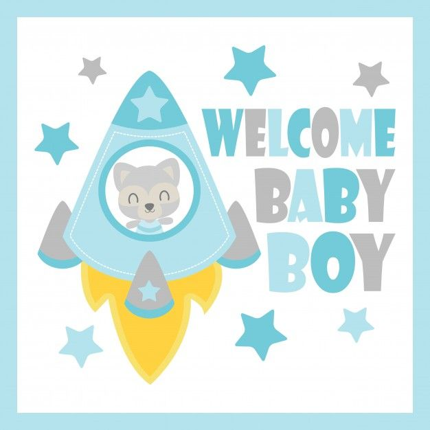 Lindo, bebé, mapache, cohete, vector, caricatura, ilustración, bebé ...
