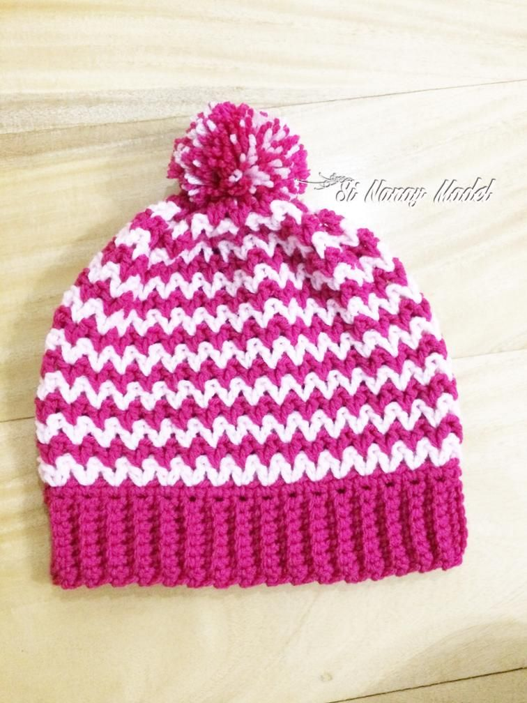 2c81a615e Easy V-Stitch Hat | Crochet hats and headbands | Crochet hats ...