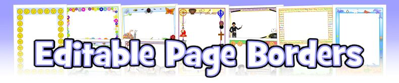 Themed A4 Page Borders for Kids, Editable Writing Frames and Templates