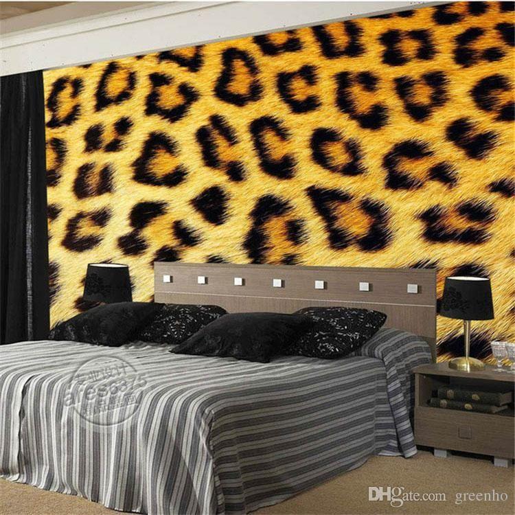 Best Fashion Leopard Print Wallpaper 3D Photo Wallpaper Custom 400 x 300