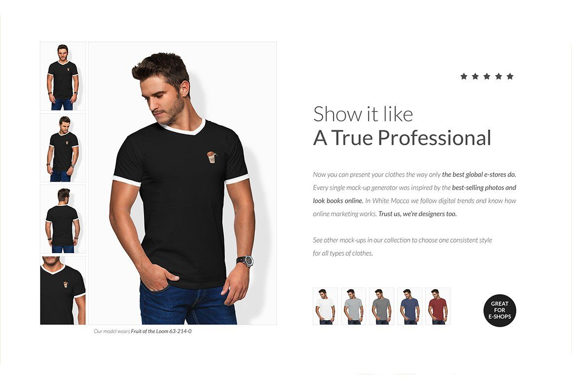 Download Men Vneck T Shirt Mock Ups Free Demo Mocking Selling Photos Simply Casual