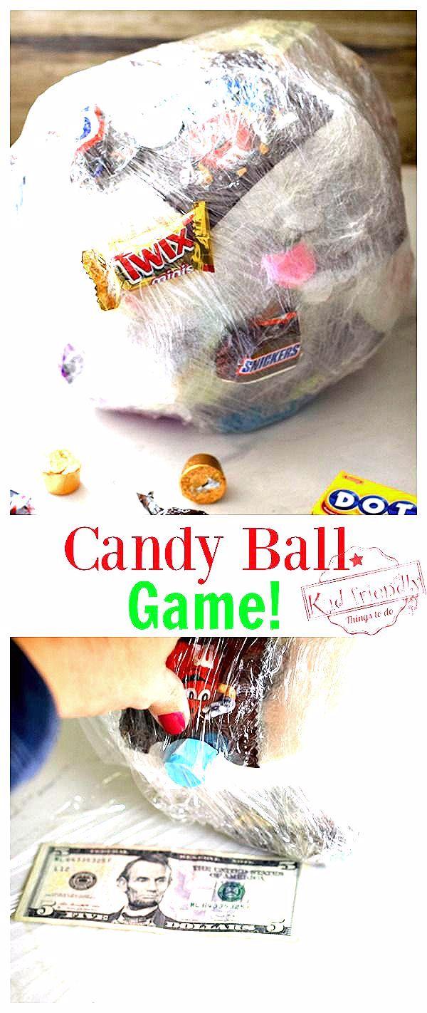 Photo of Saran Wrap Candy Ball Game