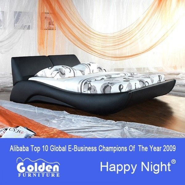 Golden new designs single beds for sale